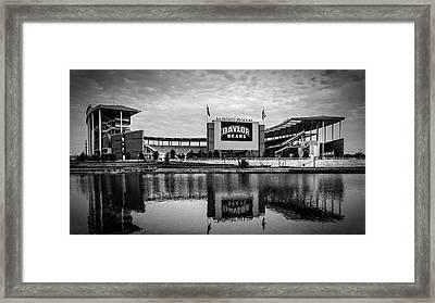 Baylor Bears Mclane Stadium Bw Framed Print by Joan Carroll