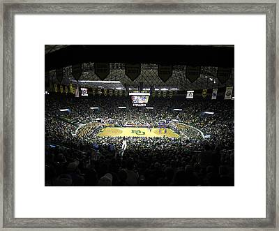 Baylor Bears Sellout Ferrell Center Framed Print by Replay Photos