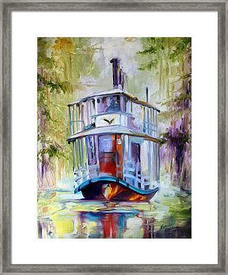 Bayou Taxi Waterscape Framed Print by Marcia Baldwin