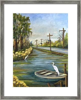 Bayou Terre Aux Boeufs Framed Print by Elaine Hodges