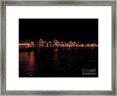 Bayside Night Of Lights Framed Print by D Hackett