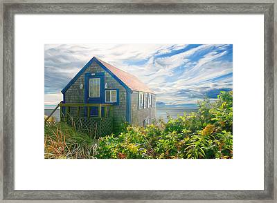 Bayside Retreat Framed Print by Sue  Brehant