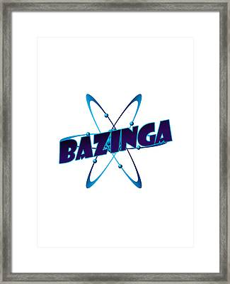 Bazinga - Big Bang Theory Framed Print by Bleed Art
