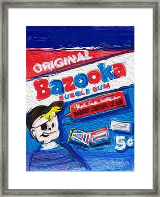 Bazooka Joe Framed Print by Russell Pierce