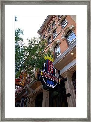 Bb King Bar Nashville Framed Print by Susanne Van Hulst