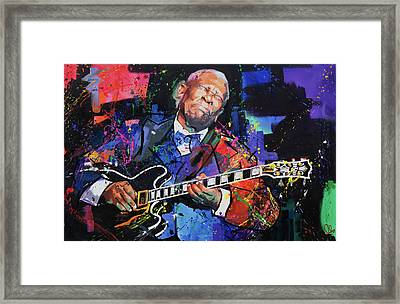Bb King Framed Print by Richard Day