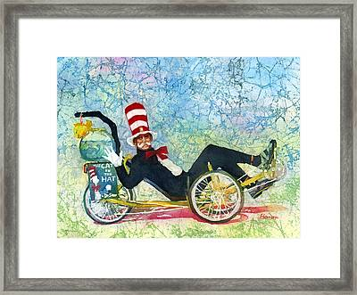 Bcs Cool Cat Framed Print by Hailey E Herrera