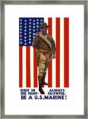 Be A Us Marine Framed Print by War Is Hell Store
