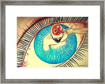 Be Careful What You Think Framed Print by Paulo Zerbato