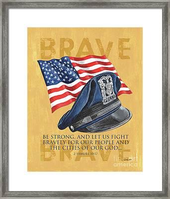 Be Strong Framed Print by Debbie DeWitt