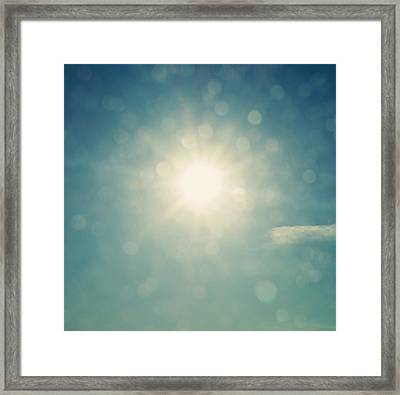 Be The Light Abstract  Framed Print by Terry DeLuco