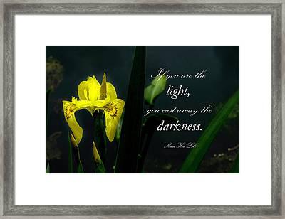 Be The Light Framed Print by Rosette Doyle
