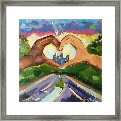 Be The Love Framed Print by Donna Heil