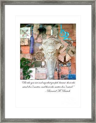 120 Fxq Framed Print by Charlene Mitchell