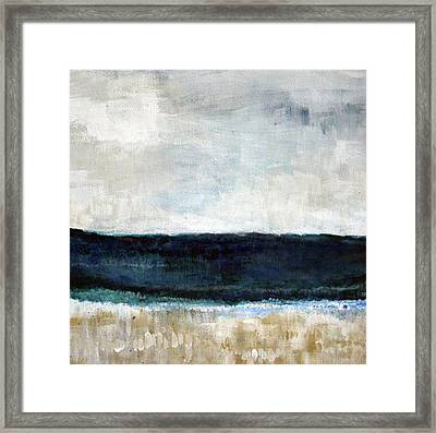 Beach- Abstract Painting Framed Print by Linda Woods