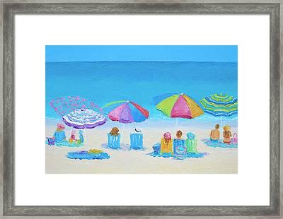 Beach Art - A Golden Day Framed Print by Jan Matson