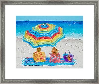 Beach Art - Perfect Day Framed Print by Jan Matson