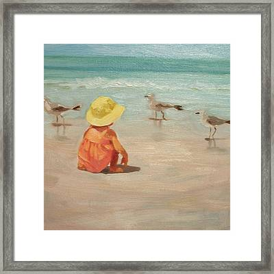 Beach Baby Framed Print by Margaret Aycock