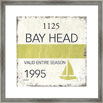 Beach Badge Bay Head Framed Print by Debbie DeWitt