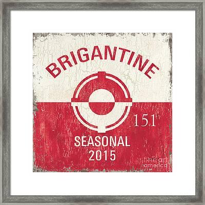 Beach Badge Brigantine Framed Print by Debbie DeWitt