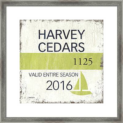 Beach Badge Harvey Cedars Framed Print by Debbie DeWitt