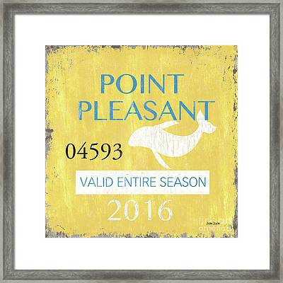 Beach Badge Point Pleasant Framed Print by Debbie DeWitt