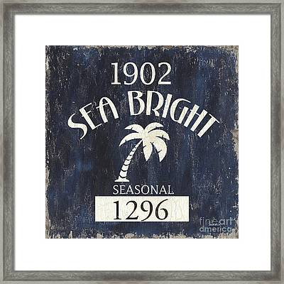 Beach Badge Sea Bright Framed Print by Debbie DeWitt