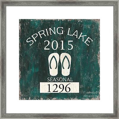 Beach Badge Spring Lake Framed Print by Debbie DeWitt