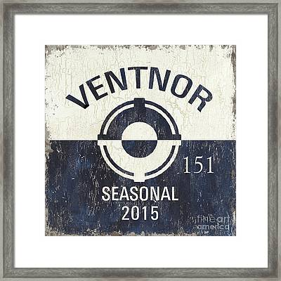 Beach Badge Ventnor Framed Print by Debbie DeWitt