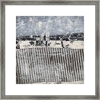 Beach Barrier Abstract Framed Print by Carol Leigh