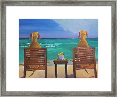 Beach Blondes Framed Print by Roger Wedegis