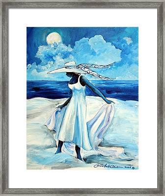 Beach Blues Framed Print by Diane Britton Dunham