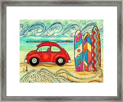 Beach Bug Framed Print by Jackie Carpenter