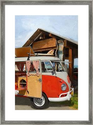 Beach Bus Framed Print by Ron Regalado