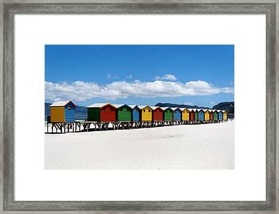 Beach Cabins  Framed Print by Fabrizio Troiani