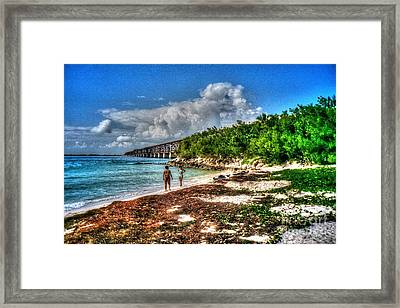 Beach Candy At Bahia Honda Wey Framed Print by Eric Geschwindner