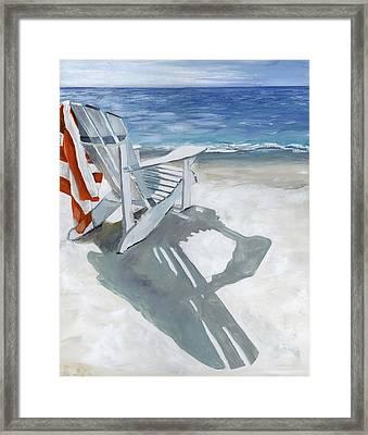 Beach Chair Framed Print by Debbie Brown