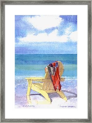 Beach Chair Framed Print by Shawn McLoughlin