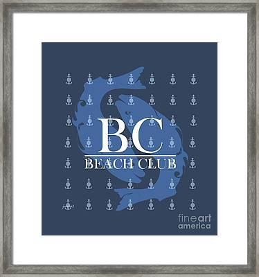 Beach Club 1 Framed Print by Johannes Murat