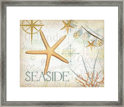 Beach Collage C Framed Print by Grace Pullen