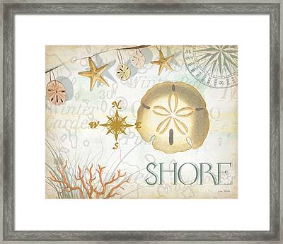Beach Collage D Framed Print by Grace Pullen