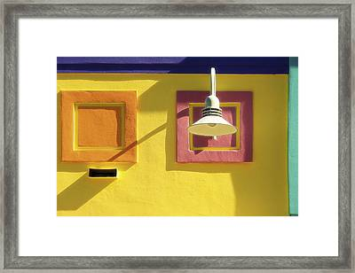 Beach Colors - Buildings Of Ft. Myers Beach, Florida Framed Print by Mitch Spence