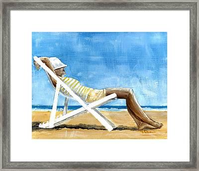 Beach Day Framed Print by Debbie Brown