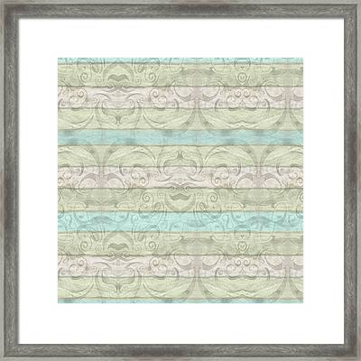 Beach Driftwood Wood Swirl Striped Pattern Framed Print by Audrey Jeanne Roberts