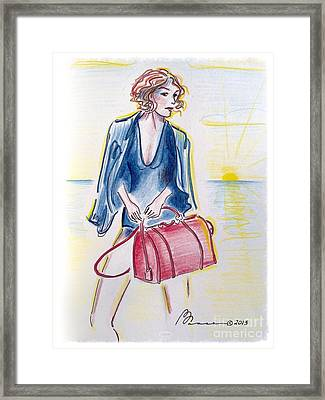 Beach Exec Framed Print by Barbara Chase