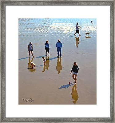 Beach Family Framed Print by Patricia Stalter