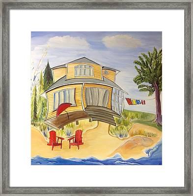 Beach House Framed Print by Heather Lovat-Fraser