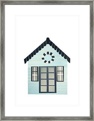 Beach Hut Framed Print by Isobel Barber