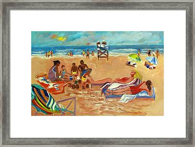 Beach In August Framed Print by Betty Pieper