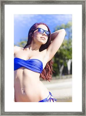Beach Life Style Framed Print by Jorgo Photography - Wall Art Gallery